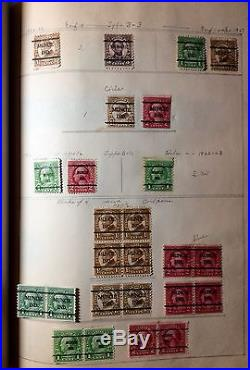 1000++ORGANIZED ACCUMULATION all 1920s PRECANCELED U. S. STAMPS HINGED A-M STATES