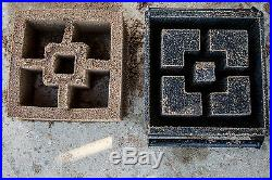 12 Inch Screen Patio Wall Concrete Cement Mold Cinder Block All Metal New USA
