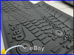 14-2018 Jeep Wrangler JK Unlimited All Weather Rubber Slush Floor Mat Set Mopar