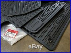 16-19 Honda Pilot All Weather Rubber Floor Mat Set New Genuine OEM 08P17-TG7-101