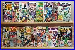 16 issue MARVEL Silver age comic lot, all complete, mid/low grade. Spiderman #20