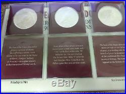 1922 P, D, S Peace Dollar Year Set All 3 Coins PCS COIN& STAMP With2C STAMP BU/MS