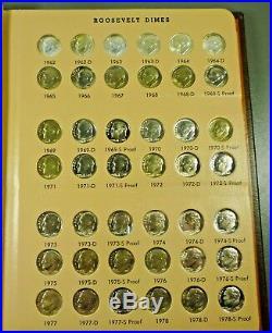 1946-2012-P, D, S Complete Roosevelt Dime Set Dansco BU + ALL Silver & Clad PROOFS
