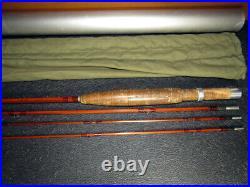 1951 Orvis Battekill bamboo fly rod 7 1/2 ft. 3/2 bag tube all cork reel seat