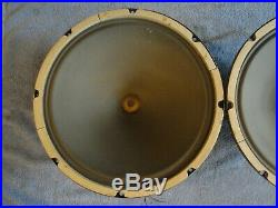 1959 Jensen P15q Pair, Clean, All Code Matched 8 Ohm 15 Speakers