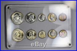 1962 P & D US Mint Set AMAZING Rainbow Tone all Natural! Big $$$