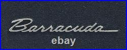 1967-69 Plymouth Barracuda Cuda Black Floor Mats with Silver Embroidered Logo all
