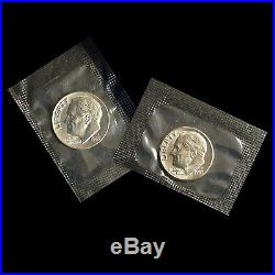 1968 to 2015 P+D Roosevelt Dime Set 1996 W 1982 PD & 1983PD All in Mint Cello