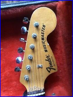 1978 Fender Musicmaster Guitar-all Original With OHSC Vintage Birdseye Maple Wow