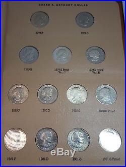 1979-1981 Susan B. Anthony Dollar Set 15 Coins Total All UNC/PF Dansco Album
