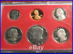 1981 S Proof Set Original OGP All 6 Coins Are Type 2 US Mint