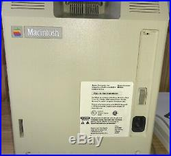 1984 APPLE MACINTOSH 128K 1st MAC Model M0001 + PICASSO KIT! All WORKING! NICE