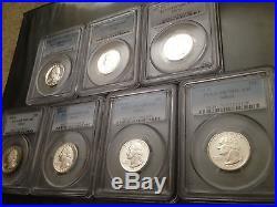1992-1998 COMPLETE SET of 7-Silver Proof Washington Quarters ALL=PCGS PR70DCAM