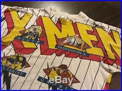 1994 XMEN Shirt Vtg LARGE marvel all over print gambit wolverine rouge cyclops
