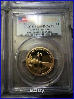 2000 2016 SACAGAWEA SET All coins PCGS Graded PR69DCAM