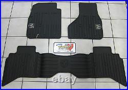 2009-2012 Dodge Ram Quad Cab All Weather Rubber Slush Floor Mats Mopar OEM