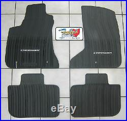 2011-2019 Dodge Charger AWD All Weather Black Rubber Slush Floor Mats Mopar OEM