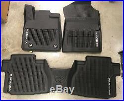 2012-2018 SEQUOIA FLOOR LINERS MAT ALL WEATHER With2ND CONSOLE OEM PT908-0C160-02