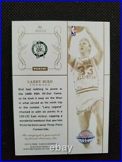 2013-14 Larry Bird Flawless All-star Achievements Gold Auto Sp Insert #4/10! Bos