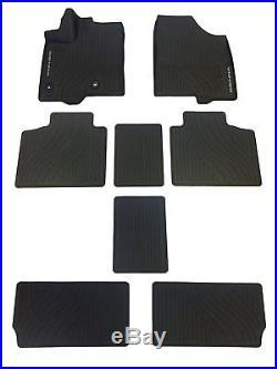 2013-2018 Sienna Floor Mats Rubber All Weather Mats Toyota Oem New 8pc Set Black