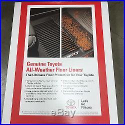 2013-2019 4runner Floor Liner Mat Rubber All Weather Toyota Oem Pt908-89160-02
