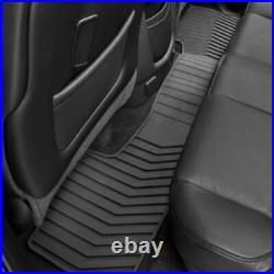 2014-2019 GMC Sierra Genuine GM Front & Rear All Weather Floor Mats Black