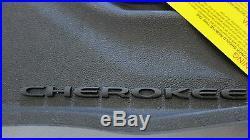 2014 2020 Jeep Cherokee All Weather Black Slush Mats and Cargo Tray Mopar OEM