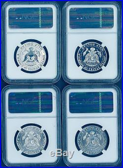 2014 P W D S 50th Anniversary Silver Kennedy 4 Coins NGC PF SP ALL 69 Set E R