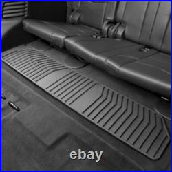 2015-2020 Cadillac Escalade Front & 2nd & 3rd Row All Weather Floor Mats Black