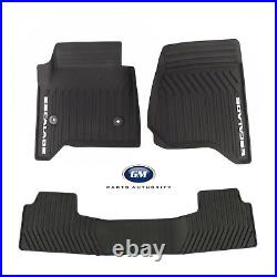 2015-2020 Cadillac Escalade Premium All Weather Front & 2nd Row Mats Black OEM