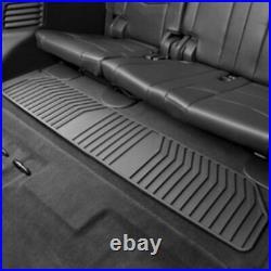 2015-2020 GMC Yukon GM Front & 2nd & 3rd Row All Weather Floor Mats Black