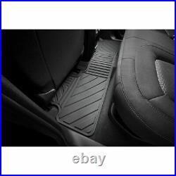 2015-2021 GMC Canyon Crew Cab GM Front & Rear All Weather Floor Mats Black