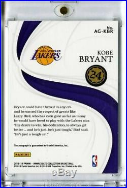 2018-19 Kobe Bryant Immaculate Acetate Auto /99 All Time Greats Signed Prizm #24
