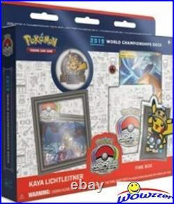 2019 Pokemon SET OF ALL (4) World Championship Sealed Decks-240 Cards+Pin Codes+