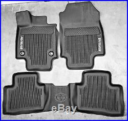2019 Rav4 FloorMat Black Rubber ALL Weather Liners Genuine OEM PT908-42190-02