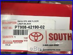 2019 Rav4 Floor Liner Mat Rubber All Weather Toyota Oem Pt908-42190-02