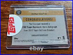 2020 Topps Archives Fernando Tatis Jr Auto /25 1960 Topps All Rookie Blue Padres