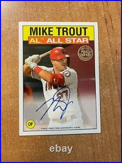 2021 Topps Series 2 Mike Trout #86AS-MT 1986 All Star On Card Auto ANGELS