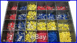 2400 pcs ULTIMATE WIRE TERMINALS & ELECTRICAL CONNECTORS KIT ALL TYPES & SIZES