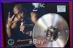 2 Pac All Eyez on Me LTD Platinum LP Record Display Award Style Memorabilia