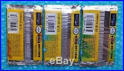 (3) 1999 Pokemon Base Set Booster Packs One a HEAVY All Factory Sealed Mint