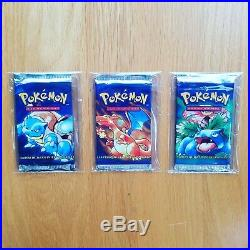3 Unweighed SPANISH Pokemon Base Set Booster Packs All Artworks Security Tags