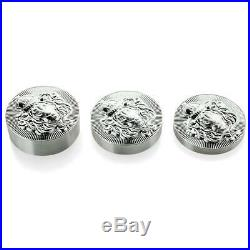 3 x Stacker Round Starter Pack All 3 Sizes 10.215 oz Total. 999 Silver #A494