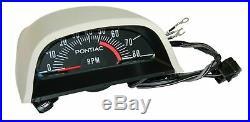 68-72 ALL Pontiac GTO Factory Hood Tach Guage Tachometer with Vent 5500 RPM RAIV 4