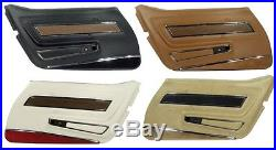 70 77 Corvette Deluxe Door Panels, Pair, NEW, All Factory Colors Available