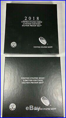 8-Coin Limited Edition 2018-S All Silver Proof Set+Pres Cs&COA