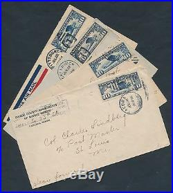 (8) Different Covers All Address To Col. Charles A. Lindbergh Br7305