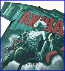 AKIRA TETSUO MANGA-GREEN All Over Print Double Side XL Size T-Shirt Re-Print F/S