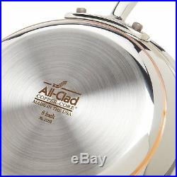 ALL-CLAD 10PC COPPER CORE COOKWARE SET 600822 SS Brand New SEALED