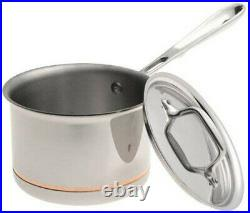 ALL-CLAD 6202 SS Copper Core 5-Ply Bonded Dishwasher Safe 2QT Sauce Pan with Lid